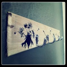 Dandelion key holder with heavy duty hooks Wooden Key Holder, Key Holders, House Warming, Hooks, Dandelion, Gifts For Her, Unique Gifts, Key Rings, Dandelions