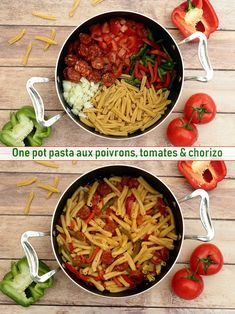 One pot pasta {chorizo, tomate & poivron} One pot pasta chorizo tomate poivronYou can find Easy pasta recipes for dinner and more on our website.One pot pasta {chorizo, tomate & poivro. Pastas Recipes, Vegetarian Pasta Recipes, Italian Pasta Recipes, Pasta Dinner Recipes, Easy Pasta Recipes, Vegetable Recipes, Healthy Dinner Recipes, Appetizer Recipes, Easy Meals