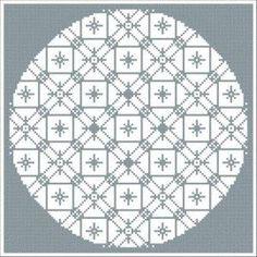 Full Circle: Free Mandala Cross Stitch Charts: Free Mandala One Cross Stitch Pattern