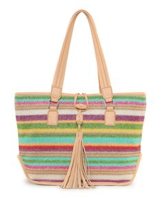 Rainbow Stripes Tassel Straw Bag Boho Bags 0c33f209533b4