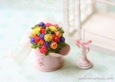 Dollhouse Miniature Bouquet - Color Burst - Dollhouse Flowers
