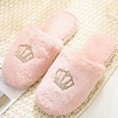 Indoor Slippers Women Crown Slipper House Plush Shoes Home Shoe Slip On Wear Kit School Life, Womens Slippers, Cool Girl, Plush, Slip On, Indoor, Crown, Detail, Lady