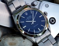 Vintage Rolex Oyster Perpetual 'Air King' - blue dial face                                                                                                                                                     More