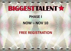 1. fáza BIGGEST TALENT - zdarma registrácia až do 10. novembra 2016