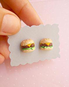Fast Food Jewelry Burger Earrings Food Earrings Burger