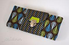 "Geldbörse Big Money Bag ""green Ornaments"" von Josiann auf DaWanda.com"