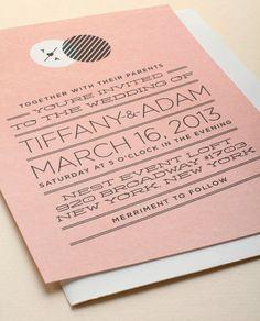 Modern Day Love Invitation, Love Vs. Design