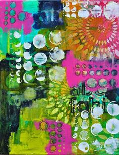 Dina Wakely art journal - her use of bright colour is incredible. Kunstjournal Inspiration, Art Journal Inspiration, Mixed Media Canvas, Mixed Media Art, Gelli Arts, Art Journal Pages, Art Journals, Art Journal Backgrounds, Journal Prompts