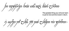 A gorgeous Elvish quote about love ♥