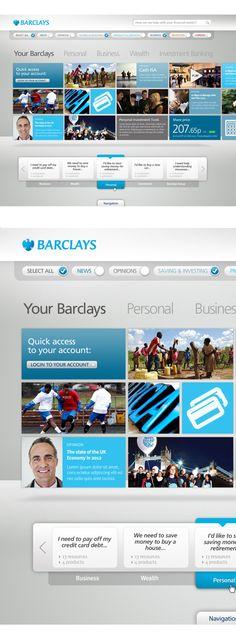 Barclays.com by Thomas Moeller, via Behance