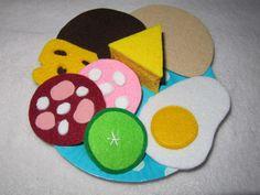 ♥ Herzhaftes für Kaufmannsladen+ Kinderküche Kids Kitchen Accessories, Felt Crafts, Diy And Crafts, Felt Food, Chocolate Treats, Treasure Boxes, My Little Girl, Diy Toys, Sewing For Kids