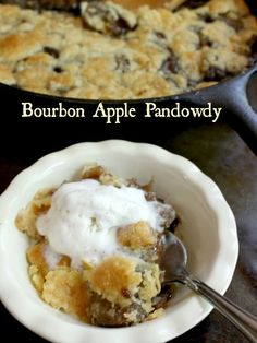 Bourbon apple pandowdy is an old-fashioned, comfort food with a modern twist. Tangy apples in a sweet-spicy sauce with buttery pastry on top. It's not a pie or a cobbler but the best of both! from restlesschipotle.com