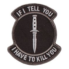 Military-inspired patch.