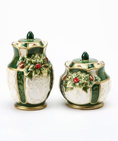 Cosmos Holly Salt & Pepper Shakers | zulily