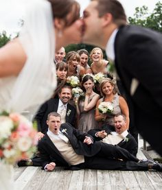cute bridal party picture  OMG the guy posing :'D
