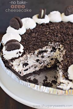 When you're looking for an easy dessert, this No Bake Oreo Cheesecake recipe is a creamy, flavorful treat! Easy to throw together for a delicious treat!