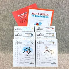 SnapWords cards are essential for children who: - Struggle to sound out words…