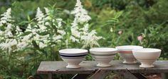 Sir/Madam vintage styled strip Au Lait bowls.
