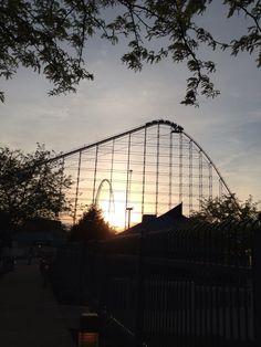 Not long now -- Cedar Point at sunset!