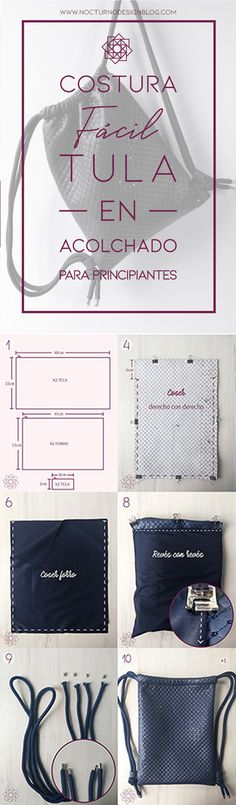 Tutorial de costura: Tula en acolchado. – Nocturno Design Blog Elegante Y Chic, Design Blog, Petunias, Polyvore, Tela, Sewing Tutorials, Sewing Projects, Coin Purse Tutorial, Straight Stitch