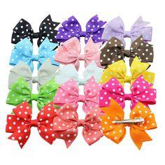 Surker 15 pcs Boutique Hair Bows Girls Kids Children Hair Clip Grosgrain Ribbon Headbands * Visit the image link more details.