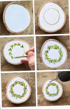 Learn How to Paint Your Own Hand Painted Christmas Wreath Ornament - Steine bema., Learn How to Paint Your Own Hand Painted Christmas Wreath Ornament - Steine bemalen -