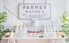 Adorable Farm themed birthday party via Cute Birthday Ideas, Girls Birthday Party Themes, Farm Birthday, First Birthday Parties, First Birthdays, Farm Themed Party, Barnyard Party, Farm Party, Jungle Party