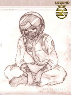 Kaede in full Air force uniform!!!!! She looks so boss.