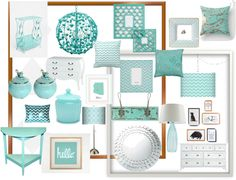 """""""turquoise bedroom"""" by joy-stephanie ❤ liked on Polyvore"""