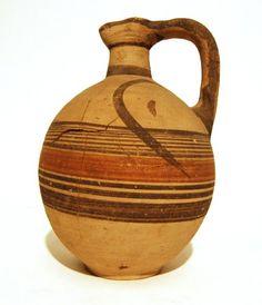 Biochrome Ware Jug   600 - 475 BC  Cypro-Archaic II  (Source: The British Museum)