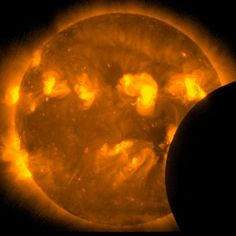 Satellites Snap Solar Eclipse Pictures Happy Holloween