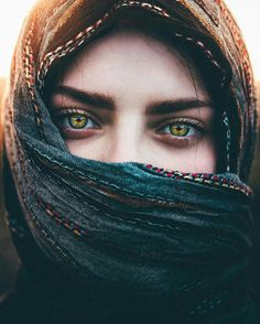 Beautiful eyes and scarf