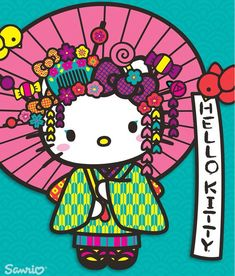 A Japanese Hello Kitty. How beautiful! Sanrio Hello Kitty, Hello Kitty Art, Hello Kitty Tattoos, Hello Hello, Hello Kitty Imagenes, Hello Kitty Pictures, Miss Kitty, Hello Kitty Wallpaper, Sanrio Wallpaper