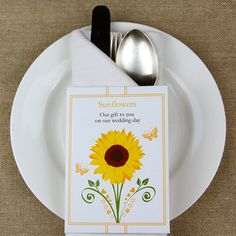 Eco sunflower seed favour packs from cherrygorgeous.co.uk
