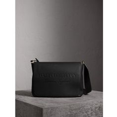 BURBERRY Large Embossed Leather Messenger Bag. #burberry #bags #shoulder bags #leather #polyester #lining #