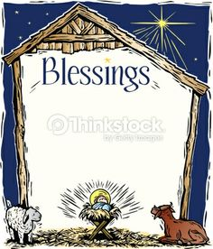 Free Religious Christmas Page Borders | Border Heading Blessings A Manger Frame Vector Art 88356994 ...