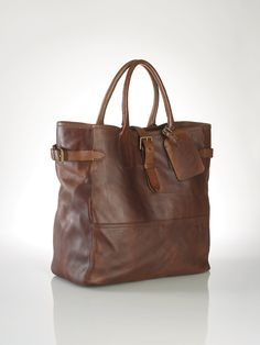 Leather Tote - Bags & Business Accessories  Men - RalphLauren.com