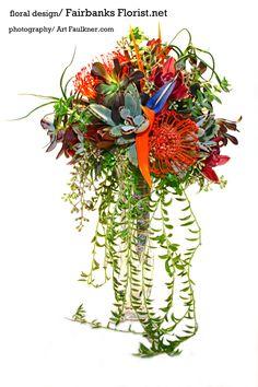 succulent cascade by Lana with Fairbanks Florist.net