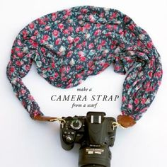 Scarf Camera Strap Tutorial {Camera Accessories}