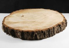 """Tree Slices Round 15-18"""" with Bark $39 each     15-18"""" round natural wood slices , bark on every side  1.5-2"""" thick"""