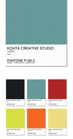 Kohta Colour Picker's project is the creative commitment of Kohta Creative Studio ''brand'' 2013.  The communication strategy is based on 6 colours that will be included in all works developed.  With the purpose of instill Nature and brand development our projects will be associated with the colours Suits, Ledds, Web Rosso, Wassa, Clockwork and Kheda.