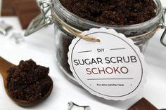 DIY, Basteln: Sugar Scrub / Zuckerpeeling Schoko in Kosmetik als Geschenkidee und Weihnachtsgeschenke - DIYCarinchen