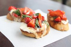Strawberry Basil Bruschetta with Ricotta Toasts from The Doctor's Daughter Blog!