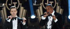 "Justin Timberlake and Jay-Z are planning a tour! Get excited. The duo linked up on Timberlake's comeback single ""Suit & Tie,"" which they performed at Sunday's Grammy Awards. Jay Z Tour, Concert Tickets, Justin Timberlake, Get Excited, Suit And Tie, Guys And Girls, Comebacks, Fitness Inspiration, Cool Pictures"