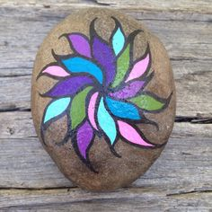 Pintada piedra piedra pintada piedra de la por TheDecorativeNest