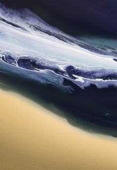Minimal Scape Fluid acrylics poured and manipulated to create an abstract seascape effect.