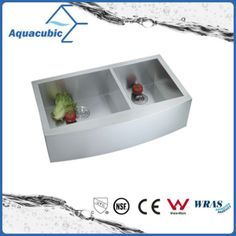 Stainless Steel Man-Made Farmhouse Kitchen Sink (ACS3621A2Q) from Shanghai Aquacubic Sanitaryware Co., Ltd. Made-in-China.com 3/17 Price Est. $90 - $160 Each, Minimum Order 50.
