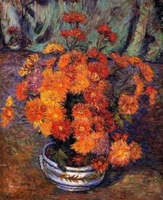 Vase of Chrysanthemums Armand Guillaumin - 1885
