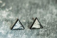Black Earrings For Men, Tiny Stud Earrings, Men Earrings, Triangle Earrings Men, Men Jewelry, Stud Earrings, Minimalist Earrings, Earrings