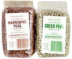 Hollandia Brand Peas Bundle, Imported From the Netherlands -- with 1 Lb. Extra Selected Green Peas (Groene Erwten) and 1 Lb. Extra Selected Marrowfat Peas (Kapucyners) Check out the image by visiting the link.